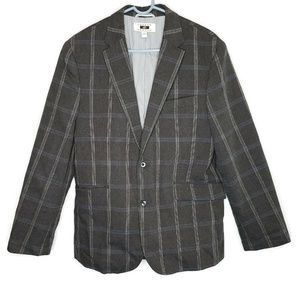 Joseph Abboud Mens Blazer Gray Windowpane Medium